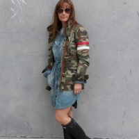 Vestido vaquero+ militar