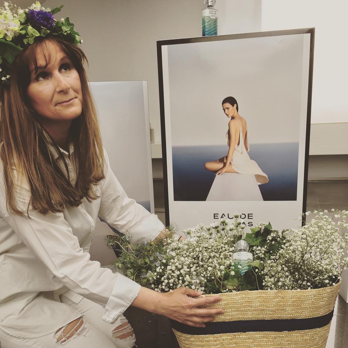 """Taller de coronas """"Angels flors"""" y nuevo perfume de """"ROCHAS"""" en Perfumería """"JULIA"""""""